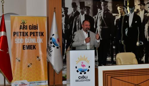 ÇİĞLİ'DE HİZMET DOLU 500 GÜN