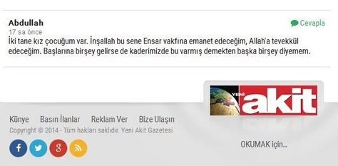 İKİ ÇOCUĞUM ENSAR'A EMANET!